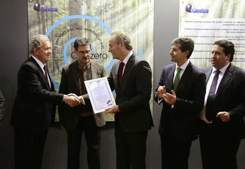 entrega sello CO2zero CEVICA