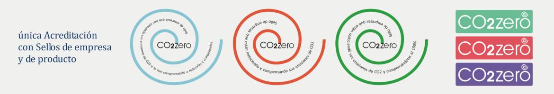 Sellos CO2zero de empresa y productos